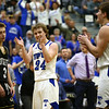 3-10-18<br /> Tipton vs Covington boys basketball regional semi-final<br /> Carson Dolezal celebrates as Tipton takes a significant lead.<br /> Kelly Lafferty Gerber | Kokomo Tribune