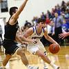 3-10-18<br /> Tipton vs Covington boys basketball regional semi-final<br /> Lukas Swan dribbles down the court.<br /> Kelly Lafferty Gerber | Kokomo Tribune