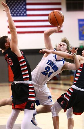 3-3-18<br /> Tipton vs Eastbrook sectional<br /> Carson Dolezal puts up a shot.<br /> Kelly Lafferty Gerber | Kokomo Tribune