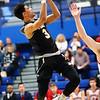 3-2-18<br /> Peru vs West Lafayette boys basketball<br /> Peru's Gavin Gysin shoots.<br /> Kelly Lafferty Gerber | Kokomo Tribune