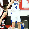 3-3-18<br /> Tipton vs Eastbrook sectional<br /> Lukas Swan puts up a three pointer.<br /> Kelly Lafferty Gerber | Kokomo Tribune