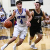 3-10-18<br /> Tipton vs Covington boys basketball regional semi-final<br /> Lukas Swan dribbles down the court.<br /> Kelly Lafferty Gerber | Kokomo Tribune