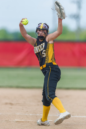 Panthers freshman Hailey Gotshall (15) went the distance, notching 11 strikeouts on the way in the Pioneer victory over North Miami on Saturday evening to capture the sectional championship. Fran Ruchalski | Pharos-Tribune