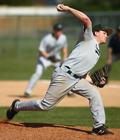 5-1-18<br /> Taylor vs Eastern baseball<br /> Eastern's Logan Smith pitches.<br /> Kelly Lafferty Gerber | Kokomo Tribune