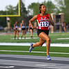 Regional Girls Track on May 22, 2018. <br /> Kokomo's Tionna Brown running the 100 meter trials.<br /> Tim Bath | Kokomo Tribune