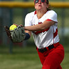 5-16-18<br /> Kokomo vs Cass softball<br /> Cass' Hannah Young makes the catch for an out.<br /> Kelly Lafferty Gerber | Kokomo Tribune