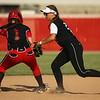 5-24-18<br /> Western vs Twin Lakes softball<br /> Karlyne Shepherd gets Twin Lakes' Hailey Applegate out at second.<br /> Kelly Lafferty Gerber | Kokomo Tribune