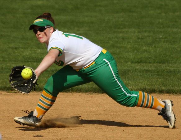 5-9-18<br /> Eastern vs Western softball<br /> Maci Weeks makes the catch for an out.<br /> Kelly Lafferty Gerber | Kokomo Tribune