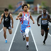 5-17-18<br /> Boys track and field sectional<br /> Mac's Shemar Austin in the 400 meter dash.<br /> Kelly Lafferty Gerber | Kokomo Tribune