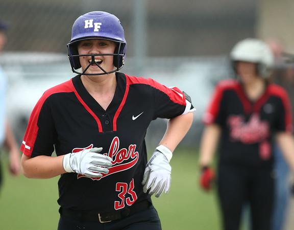 5-3-18<br /> Taylor vs Carroll softball<br /> Ruby Terrell smiles after scoring a run.<br /> Kelly Lafferty Gerber   Kokomo Tribune