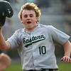 5-1-18<br /> Taylor vs Eastern baseball<br /> Eastern's Logan Smith celebrates after scoring a run in the seventh inning.<br /> Kelly Lafferty Gerber | Kokomo Tribune