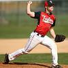 5-1-18<br /> Taylor vs Eastern baseball<br /> Taylor's Peyton Tracy pitches.<br /> Kelly Lafferty Gerber   Kokomo Tribune