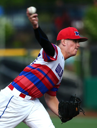 5-25-18<br /> Kokomo vs Harrison baseball<br /> Bayden Root pitches.<br /> Kelly Lafferty Gerber   Kokomo Tribune