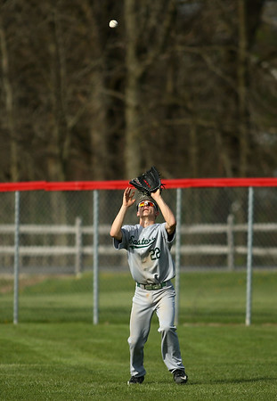 5-1-18<br /> Taylor vs Eastern baseball<br /> Eastern's Cameron Arcari makes the catch for an out.<br /> Kelly Lafferty Gerber | Kokomo Tribune