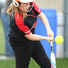 5-3-18<br /> Taylor vs Carroll softball<br /> Justice Isaacs bats.<br /> Kelly Lafferty Gerber | Kokomo Tribune