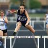 5-15-18<br /> Girls track and field sectional<br /> NW's Makala Pfefferkorn in the 300 meter hurdles.<br /> Kelly Lafferty Gerber   Kokomo Tribune
