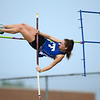 5-15-18<br /> Girls track and field sectional<br /> Tipton's Taylor Pierce in the pole vault.<br /> Kelly Lafferty Gerber   Kokomo Tribune