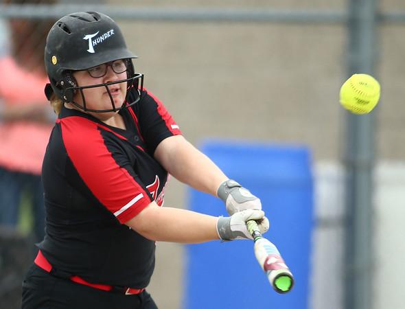 5-3-18<br /> Taylor vs Carroll softball<br /> Brooklyn Meador bats.<br /> Kelly Lafferty Gerber | Kokomo Tribune