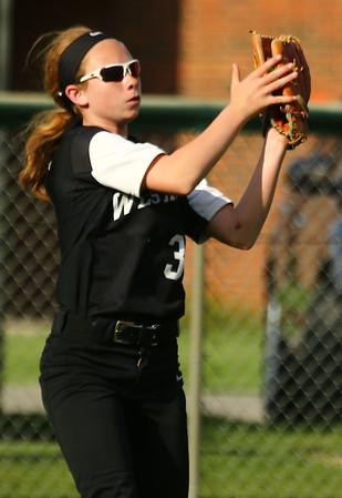 5-9-18<br /> Eastern vs Western softball<br /> Western's Izzy Johnson makes the catch for an out.<br /> Kelly Lafferty Gerber   Kokomo Tribune