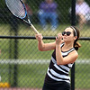 5-16-18<br /> Girls sectional tennis<br /> Western 2 singles Abigail Moreno.<br /> Kelly Lafferty Gerber | Kokomo Tribune