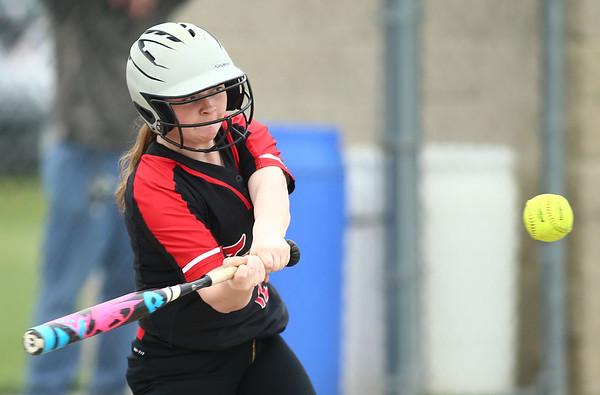 5-3-18<br /> Taylor vs Carroll softball<br /> Maddie Uncapher bats.<br /> Kelly Lafferty Gerber   Kokomo Tribune