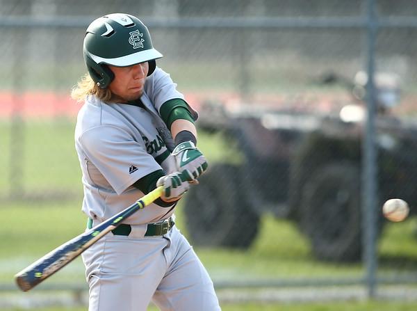5-1-18<br /> Taylor vs Eastern baseball<br /> Eastern's Eli Elkins bats.<br /> Kelly Lafferty Gerber   Kokomo Tribune