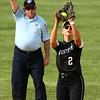 5-9-18<br /> Eastern vs Western softball<br /> Karlyne Shepherd makes the catch for an out.<br /> Kelly Lafferty Gerber | Kokomo Tribune