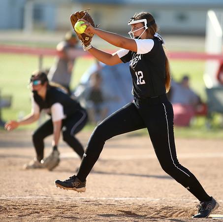5-24-18<br /> Western vs Twin Lakes softball<br /> Brooke Snyder pitches.<br /> Kelly Lafferty Gerber | Kokomo Tribune