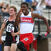 5-17-18<br /> Boys track and field sectional<br /> Kokomo's Steven Edwards runs the last leg of the 4x100 relay.<br /> Kelly Lafferty Gerber | Kokomo Tribune