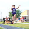 Regional Girls Track on May 22, 2018. <br /> Northwestern's Makala Pfefferkorn long jumping.<br /> Tim Bath | Kokomo Tribune
