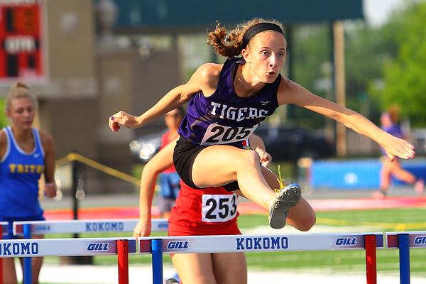 Regional Girls Track on May 22, 2018. <br /> Northwestern's Makala Pfefferkorn<br /> Tim Bath | Kokomo Tribune