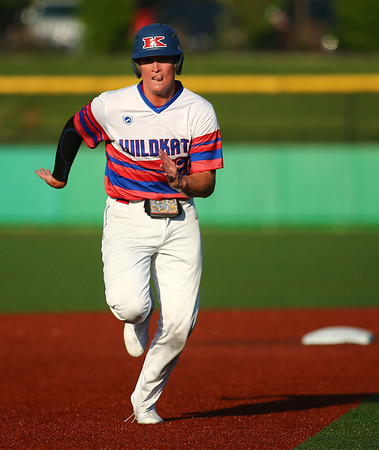 5-25-18<br /> Kokomo vs Harrison baseball<br /> Bayden Root books it to third.<br /> Kelly Lafferty Gerber | Kokomo Tribune