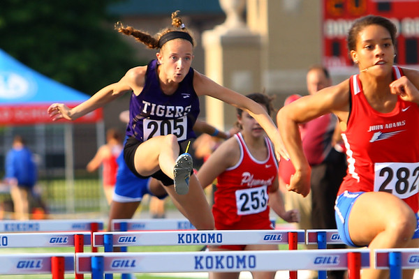 Regional Girls Track on May 22, 2018. <br /> Northwestern's Makala Pfefferkorn<br /> Tim Bath | Kokomo Tribune