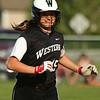 5-9-18<br /> Eastern vs Western softball<br /> Emma Key smiles as she heads to third base after hitting a home run.<br /> Kelly Lafferty Gerber | Kokomo Tribune