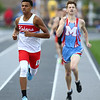 5-17-18<br /> Boys track and field sectional<br /> Kokomo's Julian Wallace in the 800.<br /> Kelly Lafferty Gerber | Kokomo Tribune