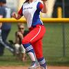 5-16-18<br /> Kokomo vs Cass softball<br /> Kokomo's Savannah Emmons catches the throw to first for an out.<br /> Kelly Lafferty Gerber | Kokomo Tribune