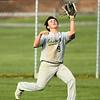 5-1-18<br /> Taylor vs Eastern baseball<br /> Eastern's Ethan Jones makes the catch for an out.<br /> Kelly Lafferty Gerber | Kokomo Tribune