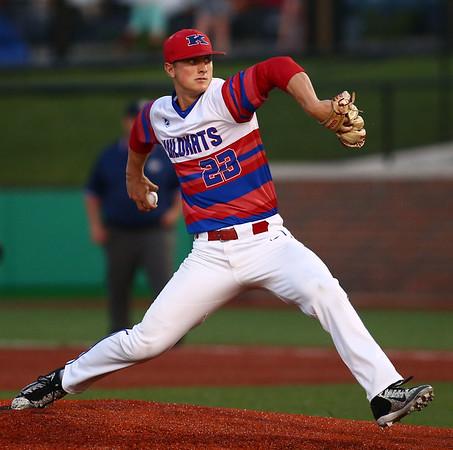 5-23-18<br /> Kokomo vs McCutcheon baseball<br /> Jack Perkins pitches.<br /> Kelly Lafferty Gerber | Kokomo Tribune