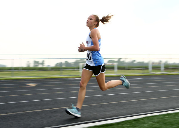 5-15-18<br /> Girls track and field sectional<br /> Mac's Madison Winegardner in the 3200.<br /> Kelly Lafferty Gerber | Kokomo Tribune