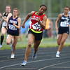 5-15-18<br /> Girls track and field sectional<br /> Kokomo's Tionna Brown in the 200 meter dash trials.<br /> Kelly Lafferty Gerber   Kokomo Tribune