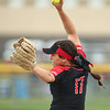 5-3-18<br /> Taylor vs Carroll softball<br /> Shaelah Eliason pitches.<br /> Kelly Lafferty Gerber | Kokomo Tribune