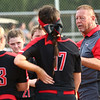 5-10-18<br /> Taylor vs TC softball<br /> Coach Dennis Bentzler talks to the Taylor team after the game.<br /> Kelly Lafferty Gerber | Kokomo Tribune