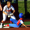 Kokomo looses the sectional finals to Harrison HS in Logansport on May 24, 2018. An effort in the 5th inning comes up short at Tionna Brown is tagged out at 3rd.<br /> Tim Bath | Kokomo Tribune