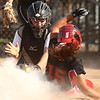 5-24-18<br /> Western vs Twin Lakes softball<br /> Twin Lakes' Rachel Swaim is called safe at home before Western catcher Kinsey Smith can get her out.<br /> Kelly Lafferty Gerber | Kokomo Tribune