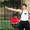 5-17-18<br /> Boys track and field sectional<br /> Western's Tyler Gilbert in the discus.<br /> Kelly Lafferty Gerber | Kokomo Tribune