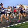 5-15-18<br /> Girls track and field sectional<br /> NW's Kaylee Watson hands off to JoHannah Hetzner in the 4x400 relay.<br /> Kelly Lafferty Gerber | Kokomo Tribune
