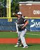 Sherrill Silversmiths Michael Ray (6) warming up for the New York Collegiate Baseball League (NYCBL)/Atlantic Collegiate Baseball League (ACBL) All-Star Game at the Onondaga Community College Turf Field in Syracuse, New York on Monday, July 9, 2018.