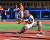 Hornell Dodgers Drew Hefner (12) warming up for the New York Collegiate Baseball League (NYCBL)/Atlantic Collegiate Baseball League (ACBL) All-Star Game at the Onondaga Community College Turf Field in Syracuse, New York on Monday, July 9, 2018.