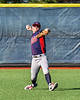 Jeersey Pilots Max Felsenstein (11) warming up for the New York Collegiate Baseball League (NYCBL)/Atlantic Collegiate Baseball League (ACBL) All-Star Game at the Onondaga Community College Turf Field in Syracuse, New York on Monday, July 9, 2018.
