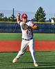 Ocean Gulls Johnny Zega (9) warming up for the New York Collegiate Baseball League (NYCBL)/Atlantic Collegiate Baseball League (ACBL) All-Star Game at the Onondaga Community College Turf Field in Syracuse, New York on Monday, July 9, 2018.